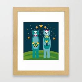 Beary In Love Framed Art Print