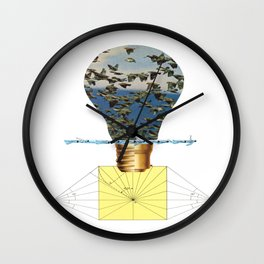 Ideas Come, Ideas Go Wall Clock