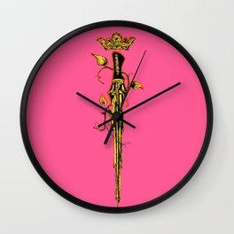 Queen of Swords Wall Clock