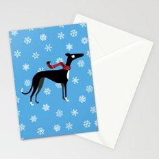 Snowy Hound Stationery Cards