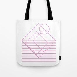 Goemetric sunset in pink Tote Bag