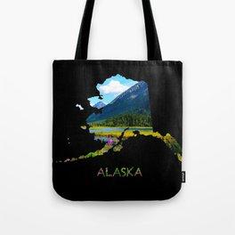 Alaska Outline - God's Country Tote Bag