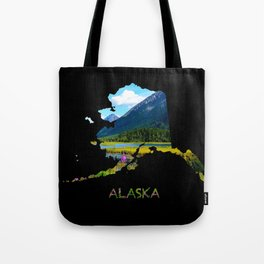 Alaska Outline - God's_Country Tote Bag