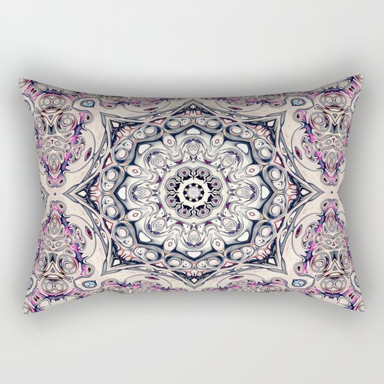 Abstract Octagonal Mandala Rectangular Pillow