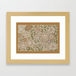 The Golden Mat Framed Art Print