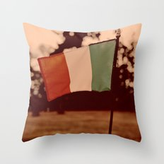 Cemetery tricolor Throw Pillow