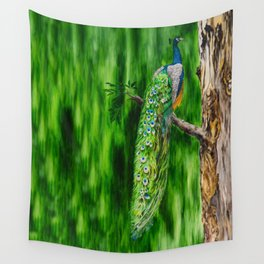 Peacock's Pride by Teresa Thompson Wall Tapestry
