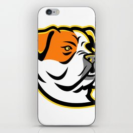American Bulldog Mascot iPhone Skin