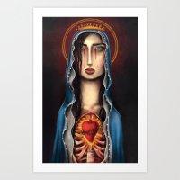 madonna Art Prints featuring Madonna by Alice Celia Lioniello