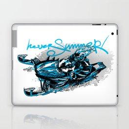 Skeleton on a snowjet Laptop & iPad Skin