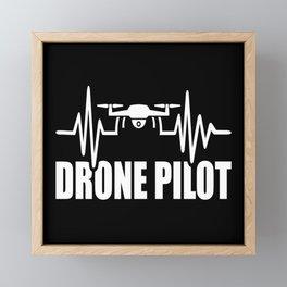 Drone Heartbeat Framed Mini Art Print