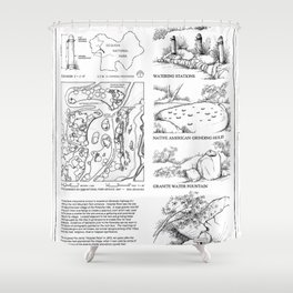 Hospital Rock - Generals Highway, Three Rivers, Tulare County, CA Shower Curtain