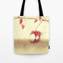 Winter time with red rosehips Tote Bag