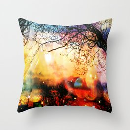 Rainbow Kisses Throw Pillow