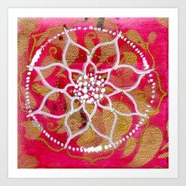 Bright Pink Mandala Art Print