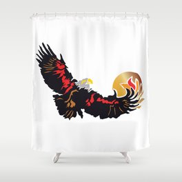 Eagle Soaring at Sunrise  Shower Curtain