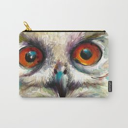 OWL EYE Watercolor Carry-All Pouch