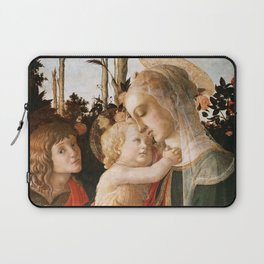 "Sandro Botticelli ""Madonna and Child with St. John the Baptist"" Laptop Sleeve"