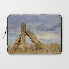 Kansas  Corner Stone Post Fence Laptop Sleeve