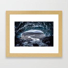 The ice cave Framed Art Print