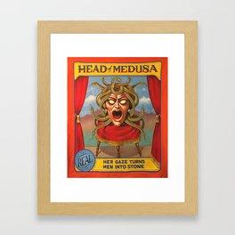 Head of Medusa Framed Art Print