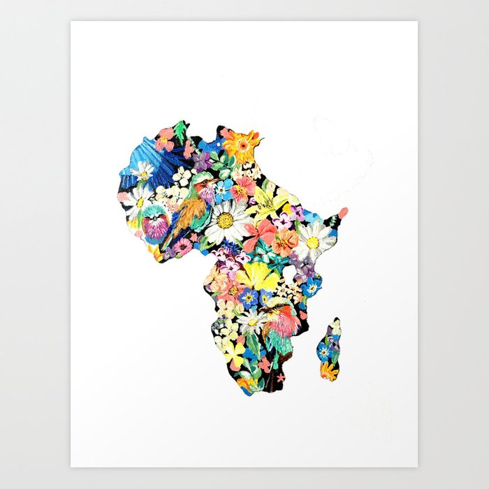 Map of Africa Art Print by jeev_art | Society6