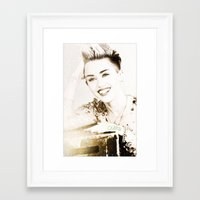 miley cyrus Framed Art Prints featuring Miley Cyrus by Ylenia Pizzetti