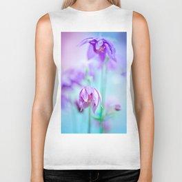 Violet flowers Biker Tank