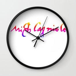 Michelangelo's pride signature Wall Clock