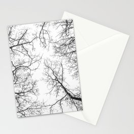 Black branches, white sky Stationery Cards