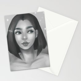 Grayscale Stationery Cards