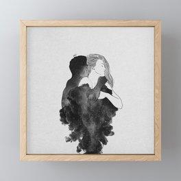 You are my peaceful heaven b&w. Framed Mini Art Print