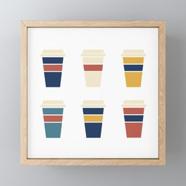 Fall Coffee Time Framed Mini Art Print