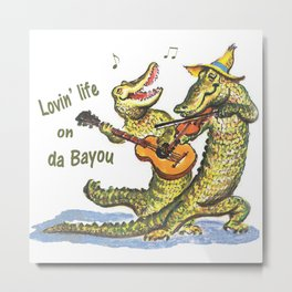 On da Bayou Metal Print