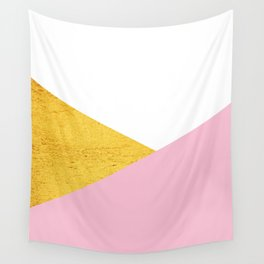 Gold & Pink Geometry Wall Tapestry