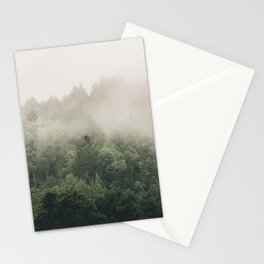 Forest Fog Photography | Woods | Misty | Mist | Forest Dew | Kaszuby Canada | Nature Photography Stationery Cards