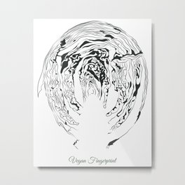 Vegan Fingerprint Metal Print