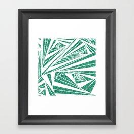 Turquoise Glitter Spiral Framed Art Print