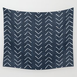 Mud Cloth Big Arrows in Navy Wall Tapestry