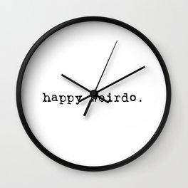 Happy Weirdo - Black Wall Clock