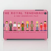 royal tenenbaums iPad Cases featuring The Royal Pixelbaums by Isabel