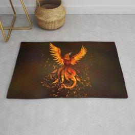 Rising Phoenix Bird  Rug