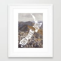 new zealand Framed Art Prints featuring NEW ZEALAND by cabin supply co