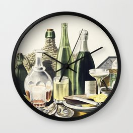 Advertisement The Best Wines Liquors Ales  Lager Beer we are selling Here by LN Rosenthal Wall Clock