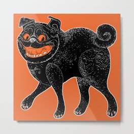 Scratch Pug Metal Print