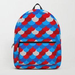 Mermaid Tail Pattern American Flag Colors Xmas  Backpack