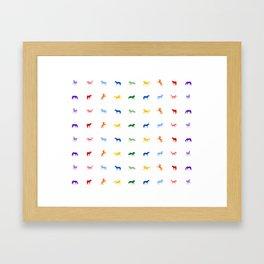 Horses In A Row Framed Art Print