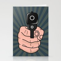 comics Stationery Cards featuring comics gun  by mark ashkenazi