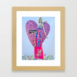 Sweettarts For My Sweetheart - Bright Colors Framed Art Print
