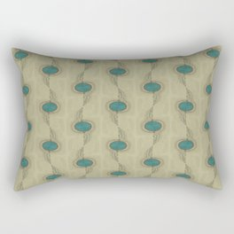 Teal Turquoise Circles Pattern Modern Abstract Rectangular Pillow